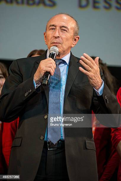 Gerard Collomb attends the closing ceremony 7th Lumiere Film Festival on October 18 2015 in Lyon France