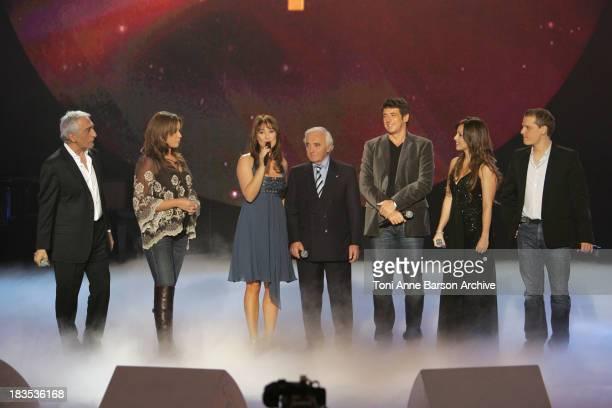 Gerard Darmon Chimene Badi Daniela Lumbroso Charles Aznavour Patrick Bruel Helene Segara and Benabar