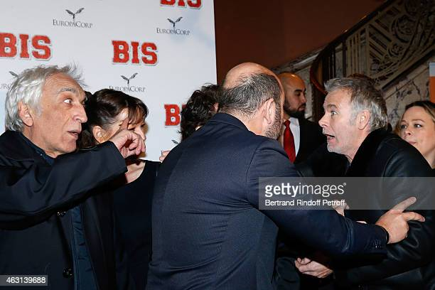 Gerard Darmon Kad Merad and Franck Dubosc attend the 'Bis' Movie Paris Premiere at Cinema Gaumont Capucine on February 10 2015 in Paris France
