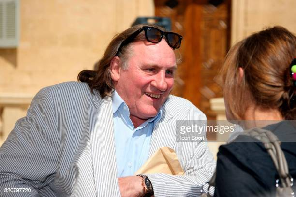 Gerard DEPARDIEU Lancement officiel de l'association Georges Freche au chateau de Castries Montpellier