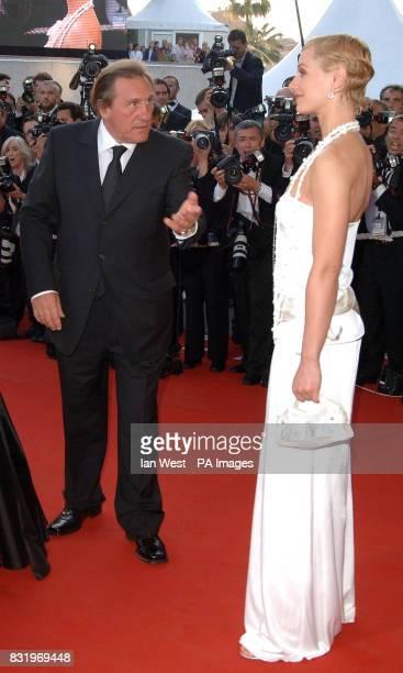 AP OUT Gerard Depardieu and Cecile de France arrive for the premiere of Quand J'Etais Chanteur at the 59th Cannes Film Festival in Cannes France