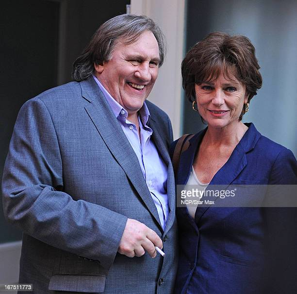Gerard Depardieu and Jacqueline Bisset as seen on April 24 2013 in New York City