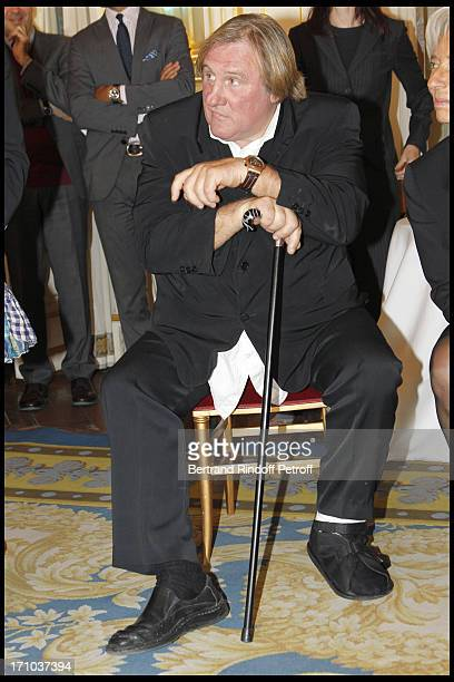 Gerard Depardieu at 1st Edition Of The Barbara Prize At Culture Ministry