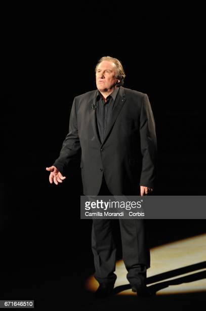 Gerard Depardieu attends Ballando Con Le Stelle Tv Show on April 22 2017 in Rome Italy