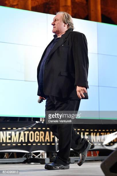 Gerard Depardieu attends Nations Award presentation on July 28 2017 in Taormina Italy