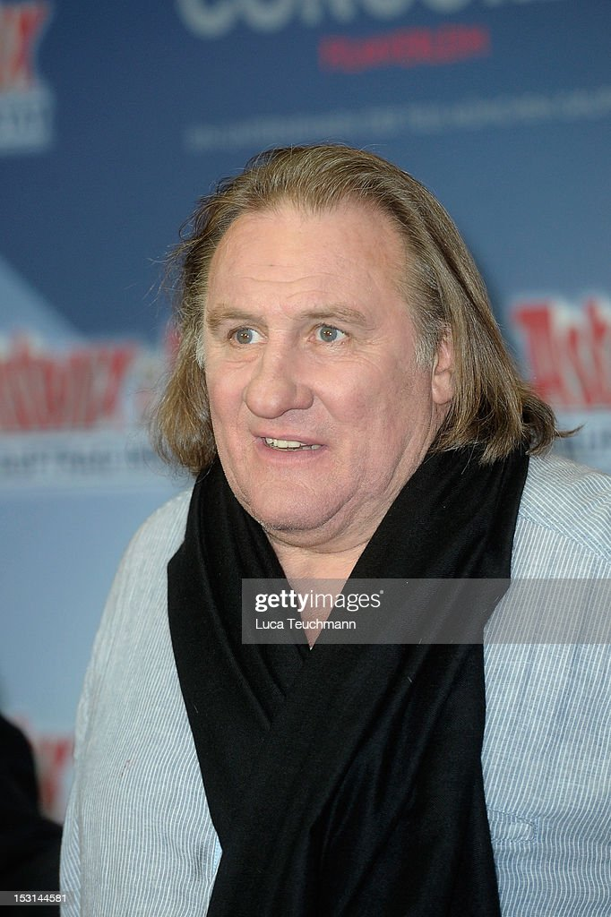 Gerard Depardieu attends the 'Asterix & Obelix - God Save Britannia' Photocall at Hote de Rome on October 1, 2012 in Berlin, Germany.