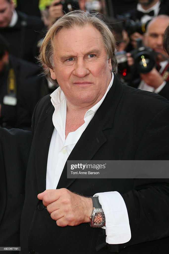 Gerard Depardieu attends 'The Homesman' premiere at the 67th Annual Cannes Film Festival on May 18, 2014 in Cannes, France.
