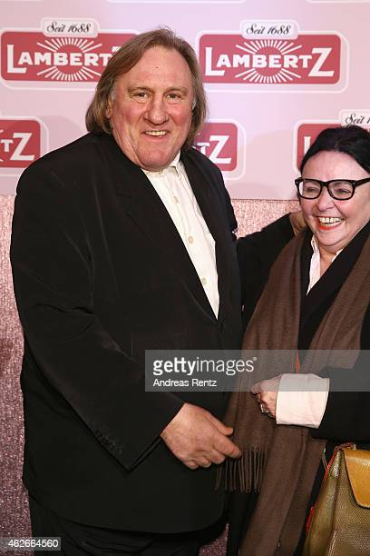Gerard Depardieu attends the Lambertz Monday Night 2015 at Alter Wartesaal on February 2 2015 in Cologne Germany