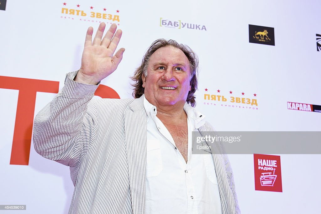 Gerard Depardieu attends the Moscow Premiere of 'Victor' at Five Stars Cinema Hall on September 2, 2014 in Moscow, Russia.