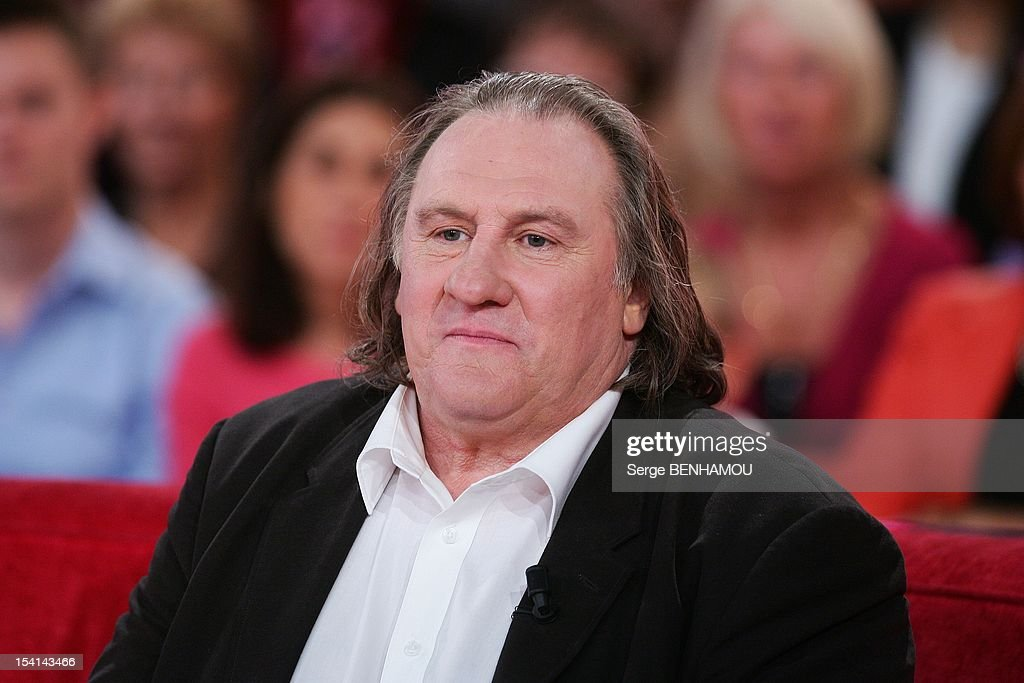 Gerard Depardieu attends Vivement Dimanche Tv show on October 3, 2012 in Paris, France.