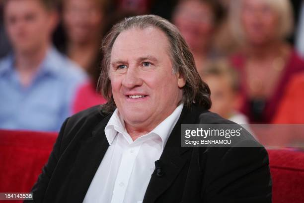 Gerard Depardieu attends Vivement Dimanche Tv show on October 3 2012 in Paris France