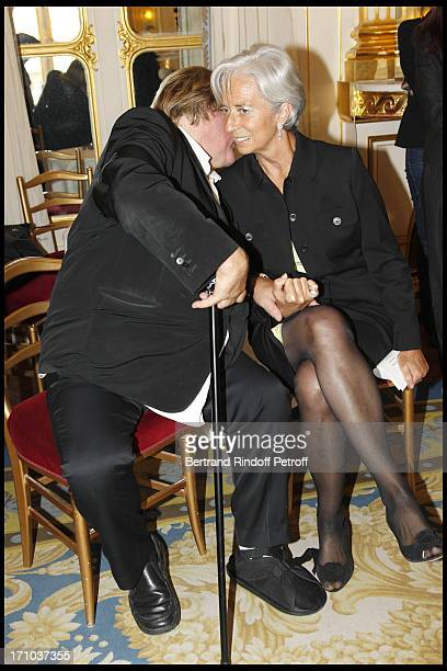 Gerard Depardieu Christine Lagarde at 1st Edition Of The Barbara Prize At Culture Ministry