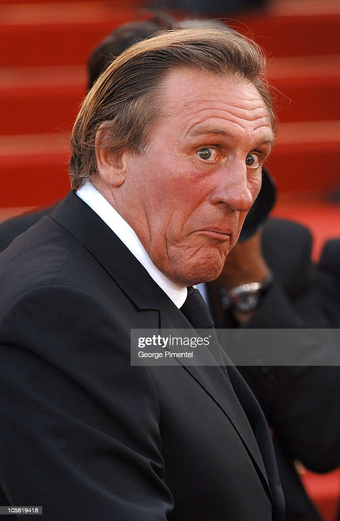<a gi-track='captionPersonalityLinkClicked' href=/galleries/search?phrase=Gerard+Depardieu&family=editorial&specificpeople=207073 ng-click='$event.stopPropagation()'>Gerard Depardieu</a> during 2006 Cannes Film Festival - 'Quand J'Etais Chanteur' Premiere at Palais des Festival in Cannes, France.