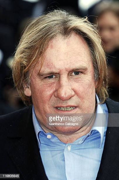 Gerard Depardieu during 2007 Cannes Film Festival 'A Mighty Heart' Premiere Arrivals at Palais des Festivals in Cannes France
