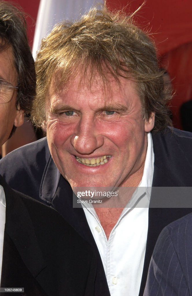<a gi-track='captionPersonalityLinkClicked' href=/galleries/search?phrase=Gerard+Depardieu&family=editorial&specificpeople=207073 ng-click='$event.stopPropagation()'>Gerard Depardieu</a> during The 55th Annual Primetime Emmy Awards - Arrivals at The Shrine Theater in Los Angeles, California, United States.