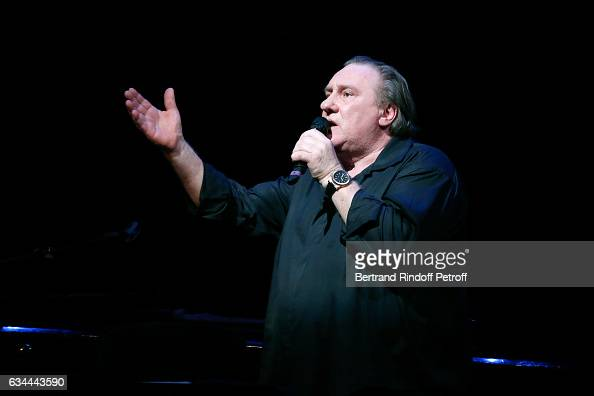 Gerard Depardieu sings Barbara accompanied on the piano of Barbara by Gerard Daguere who was his Pianist for more than 15 years February 8 2017 in...