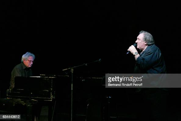 Gerard Depardieu sings Barbara accompanied on the piano of Barbara by Gerard Daguerre who was his Pianist for more than 15 years February 8 2017 in...