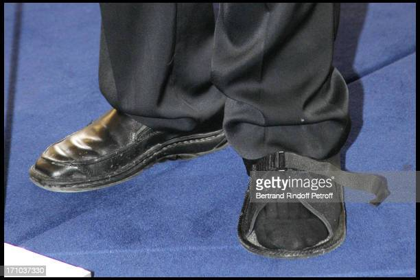 Gerard Depardieu's foot at 1st Edition Of The Barbara Prize At Culture Ministry
