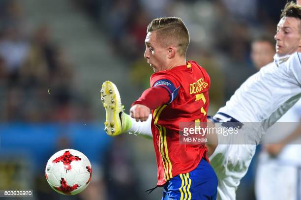 Gerard Deulofeu and Federico Bernardeschi during the UEFA European Under21 match between Spain and Italy on June 27 2017 in Krakow Poland