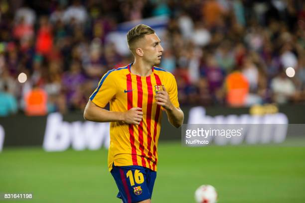 Gerard Deulofeu before the match between FC Barcelona Real Madrid for the first leg of the Spanish Supercup held at Camp Nou Stadium on 13th August...