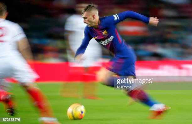 Gerard Deulofeu during La Liga match between FC Barcelona v Sevilla CF in Barcelona on November 04 2017