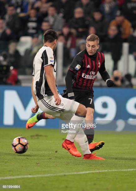 Gerard Deulofeu during Serie A match between Juventus v Milan in Turin on March 10 2017