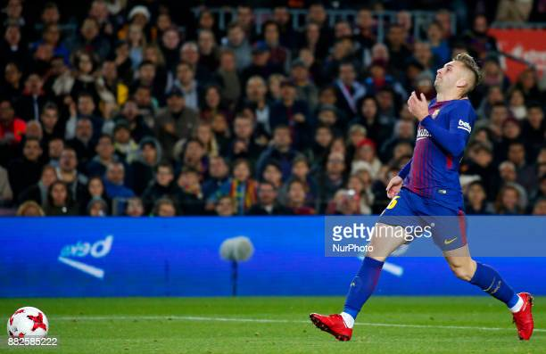 Gerard Deulofeu during the Copa del Rey match between FC Barcelona v Real Murcia CFi n Barcelona on November 29 2017