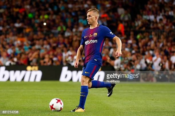 Gerard Deulofeu during the spanish Super Cup match between FC Barcelona v Real Madrid in Barcelona on August 13 2017