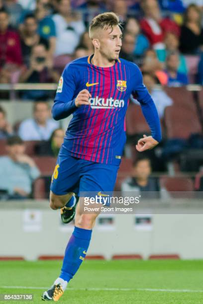 Gerard Deulofeu Lazaro of FC Barcelona looks during the La Liga 201718 match between FC Barcelona and SD Eibar at Camp Nou on 19 September 2017 in...