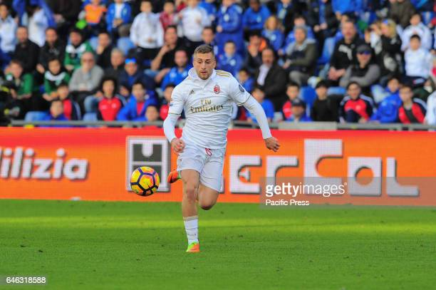 Gerard Deulofeu Milan's forward during the Serie A football match between Sassuolo and AC Milan at Mapei Stadium Milan beat by 1 to 0 on US Sassuolo