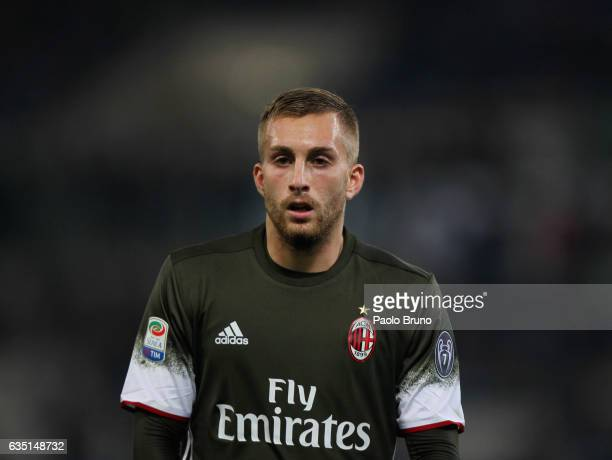 Gerard Deulofeu of AC Milan looks on during the Serie A match between SS Lazio and AC Milan at Stadio Olimpico on February 13 2017 in Rome Italy