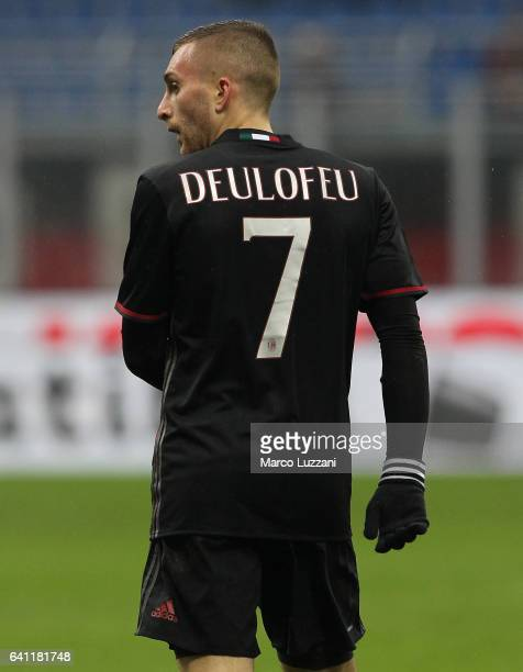 Gerard Deulofeu of AC Milan looks on during the Serie A match between AC Milan and UC Sampdoria at Stadio Giuseppe Meazza on February 5 2017 in Milan...