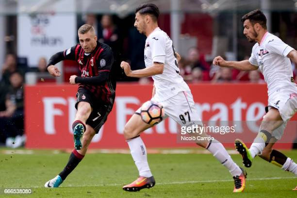Gerard Deulofeu of AC Milan scores a goal during the Serie A football match between AC Milan and US Citta di Palermo AC Milan wins 40 over US Citta...