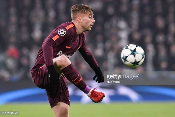 Gerard Deulofeu of Barcelona during the UEFA Champions League match between Juventus and Barcelona at the Juventus Stadium Turin Italy on 22 November...