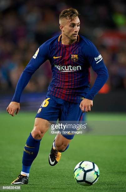 Gerard Deulofeu of Barcelona in action during the La Liga match between Barcelona and Eibar at Camp Nou on September 19 2017 in Barcelona Spain