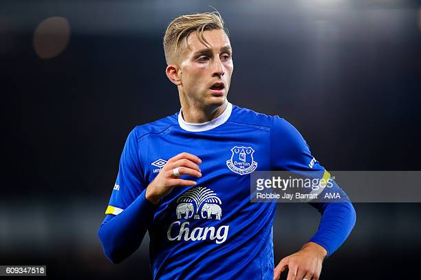 Gerard Deulofeu of Everton during the EFL Cup match between Everton and Norwich City at Goodison Park on September 20 2016 in Liverpool England