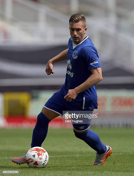 Gerard Deulofeu of Everton in action during the Pre Season Friendly match between Swindon Town and Everton at the County Ground on July 11 2015 in...