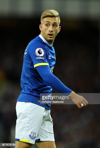 Gerard Deulofeu of Everton in action during the Premier League match between Everton and Middlesbrough at Goodison Park on September 17 2016 in...