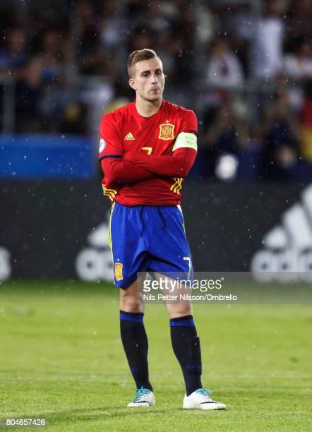 Gerard Deulofeu of Spain dejected after the UEFA U21 Final match between Germany and Spain at Krakow Stadium on June 30 2017 in Krakow Poland