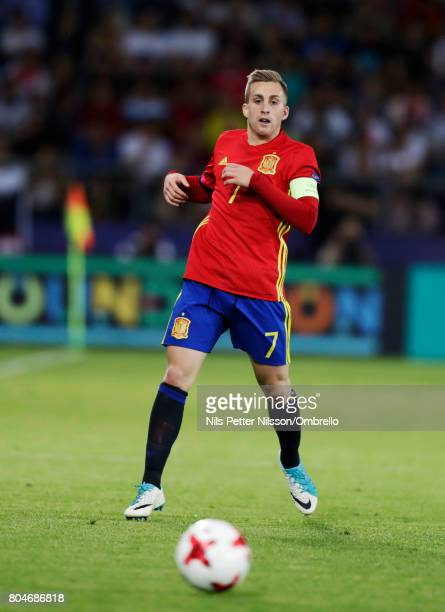 Gerard Deulofeu of Spain during the UEFA U21 Final match between Germany and Spain at Krakow Stadium on June 30 2017 in Krakow Poland