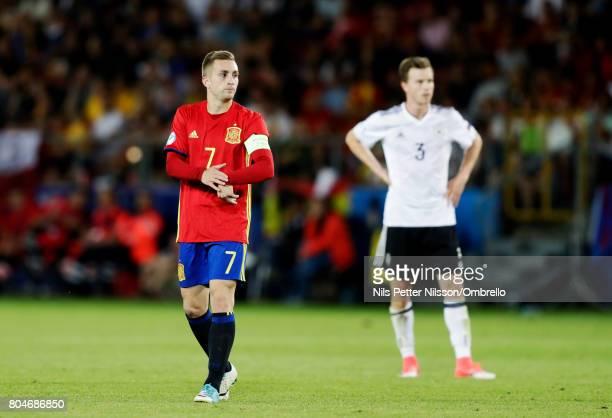 Gerard Deulofeu of Spain during the UEFA U21 Final match between Germany and Spain at Krakow Stadium on June 30 2017 in Krakow Poland