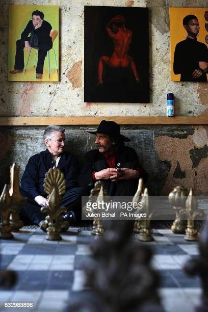 Gerard Dowling also known as 'Zorro of the Liffey' with Fifi Smith at Gerards House also known as Mars Hall in Dublin Avant garde Dublin artists have...