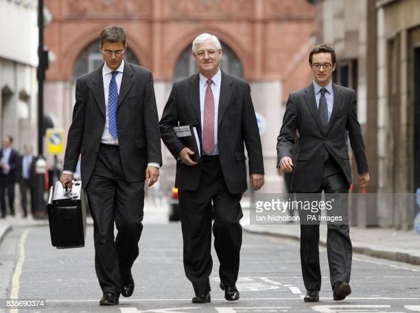 Gerard Elias QC lead counsel to the Baha Mousa public inquiry arrives with fellow counsel Nicholas Moss and Patrick Hilliday at Finlaison House...