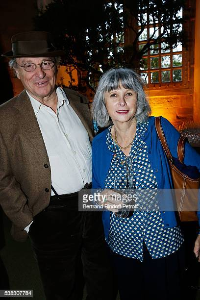 Gerard Garouste and his wife Elizabeth attend the inauguration of Olafur Eliasson Exhibition at Chateau de Versailles on June 5 2016 in Versailles...