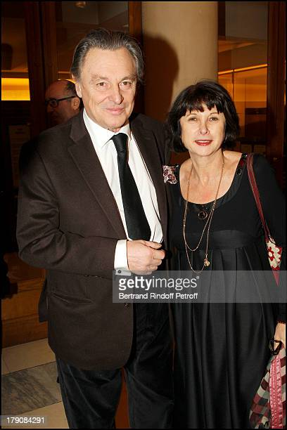 Gerard Garouste and wife at The Scopus 2011 Awards Ceremony Held At The Champs Elysees Theatre In Paris
