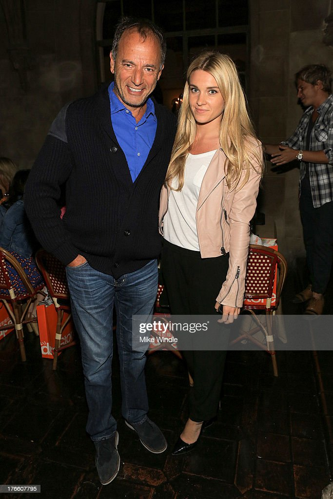 Gerard Guez (L) and Jackie Swerz attend the SUPERDRY intimate dinner in celebration of the brand's Autumn/Winter 2013 Collection at Chateau Marmont on August 15, 2013 in Los Angeles, California.