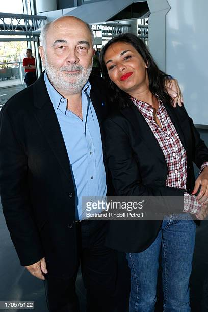 Gerard Jugnot and his companion Saida Jawad attend Actress Josiane Balasko receives the Medal of Arts and Letters from the president of Arab World...