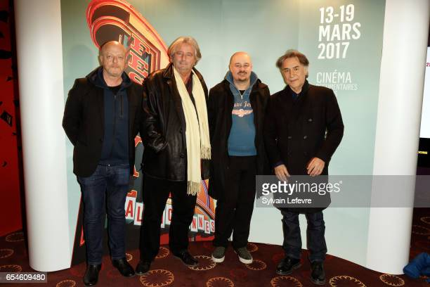 Gerard Krawczyk Laurent Petin Laurent Lufroy and Richard Berry attend the day five photocall before tribute to Laurent Lufroy at Valenciennes Cinema...