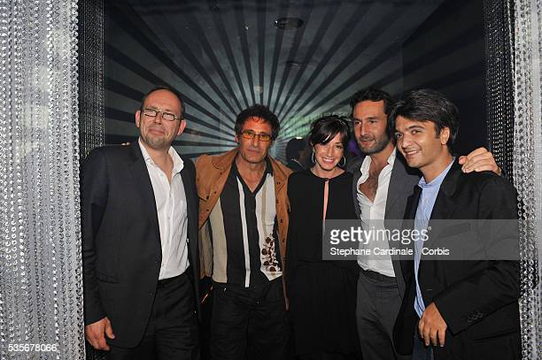 Gerard Lanvin Albane Cleret Gilles Lelouche and Thomas Langmann attend a party at Jimmy'z during the 61st Cannes Film Festival