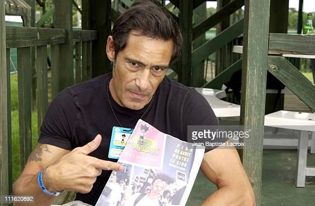 Gerard Lanvin during Paris 2002 Solidays Festival Celebrities Against Aids at Hippodrome de Longchamps in Paris France